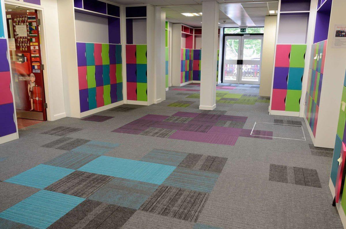 education flooring colourful