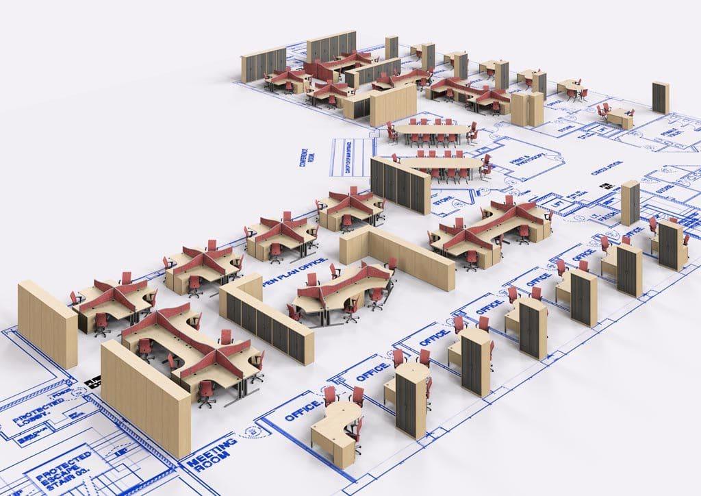 3D office plans
