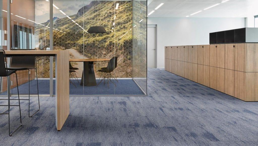 Commercial Offices blue carpet