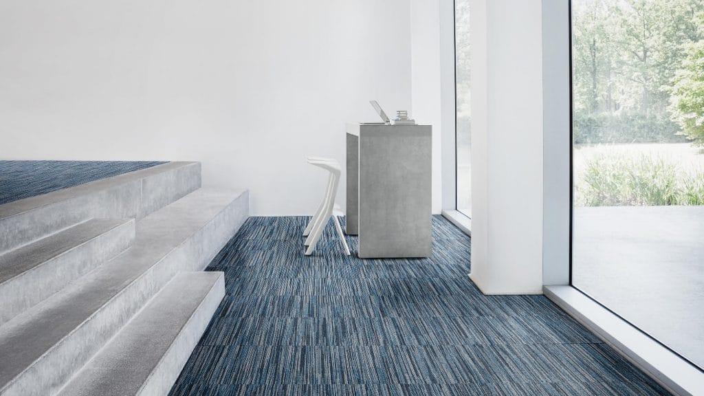blue carpet tiles