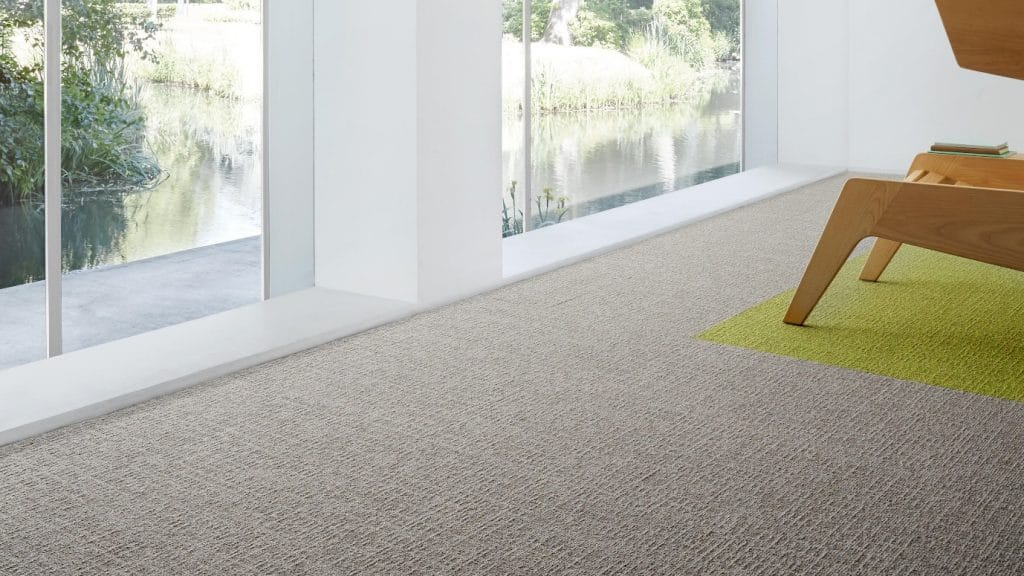 light grey and green carpet tiles