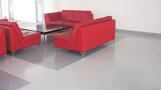 homogeneous single sheet flooring