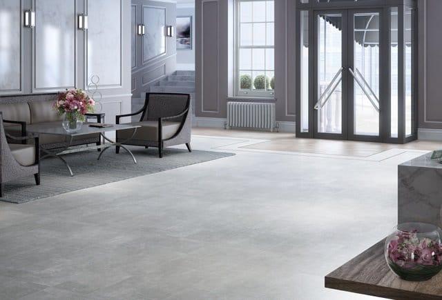luxury vinyl tiles in grey