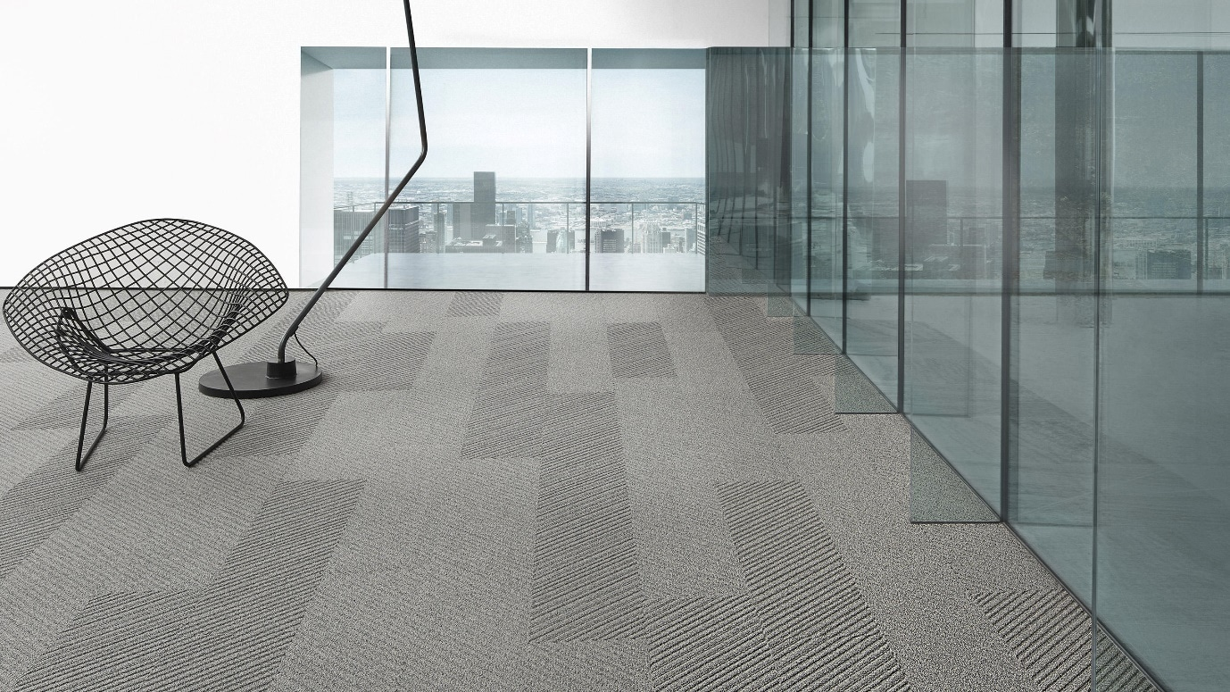 commerical carpet in seating area