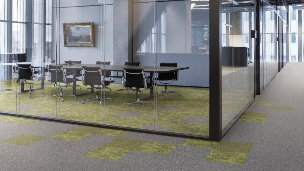 commercial carpet in boardroom