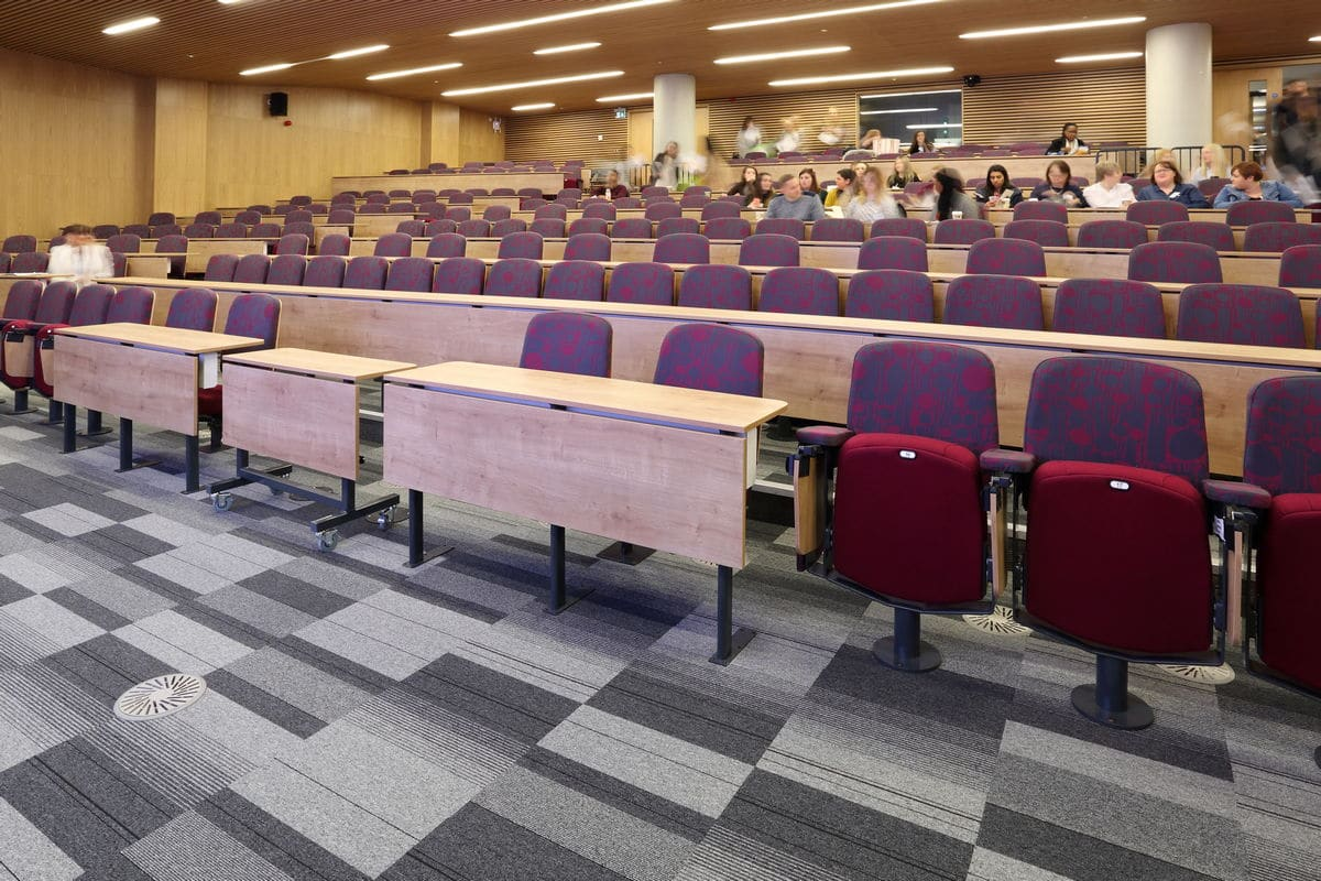 acoustic flooring in lecture room