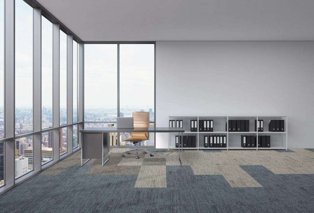 acoustic flooring in office