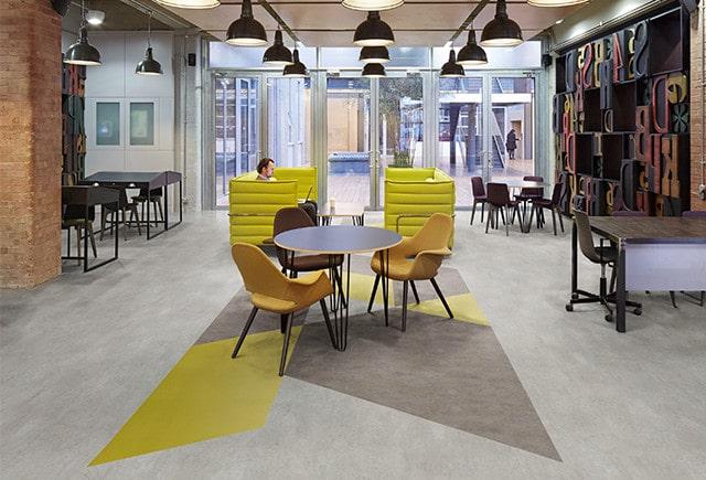 acoustic flooring in workspace