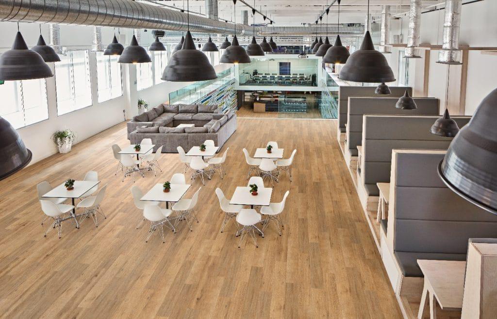 wooden floor in an office