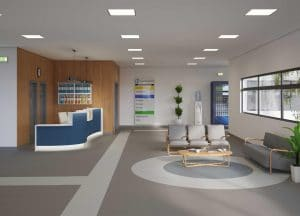 Homogeneous Flooring in hospital