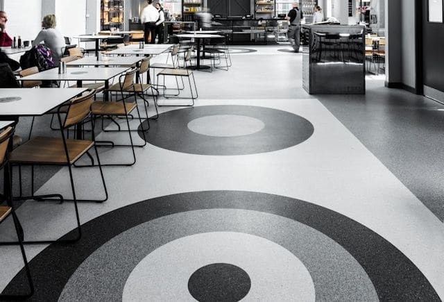 Homogeneous Flooring in resturant