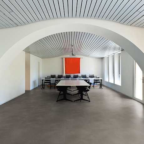 Loose lay flooring in boardroom