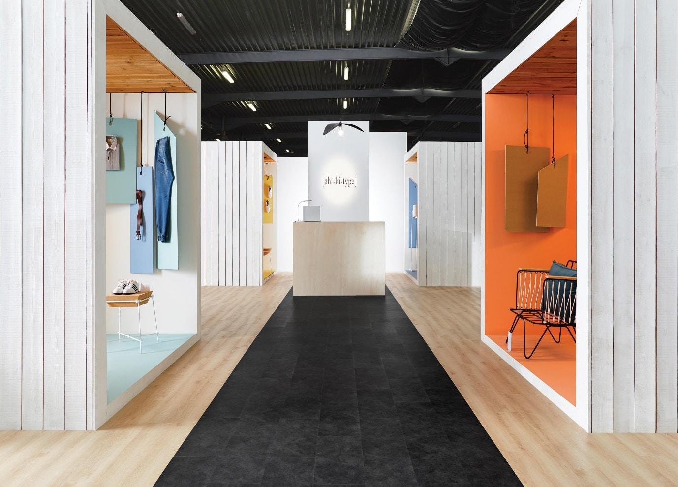 luxury vinyl tiles at exhibition