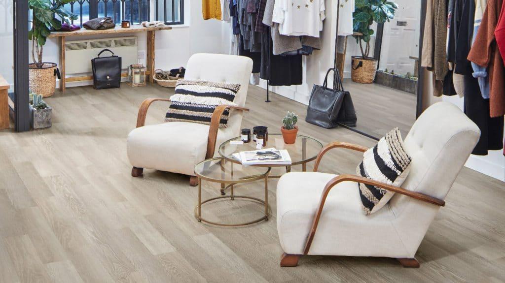 luxury vinyl tiles in dressing room