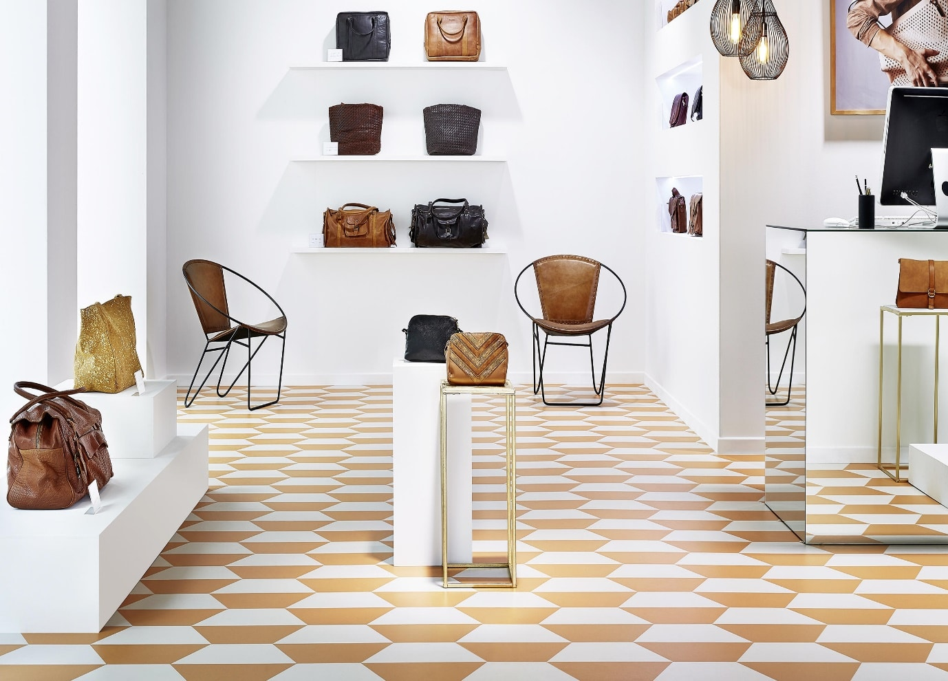 luxury vinyl tiles in retail store