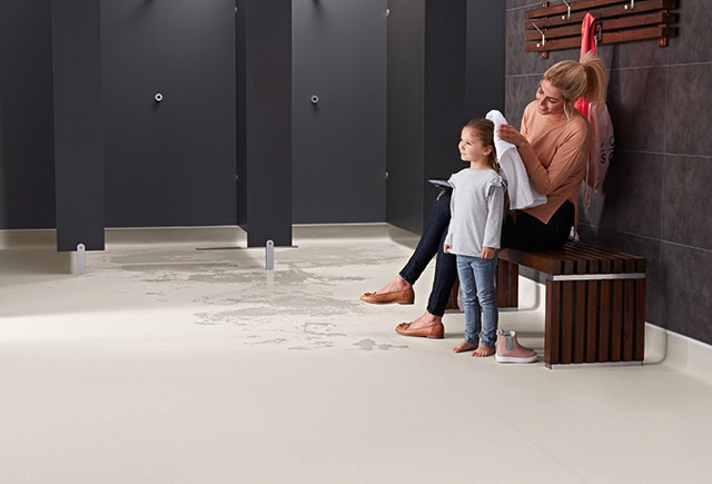 safety flooring in changing rooms