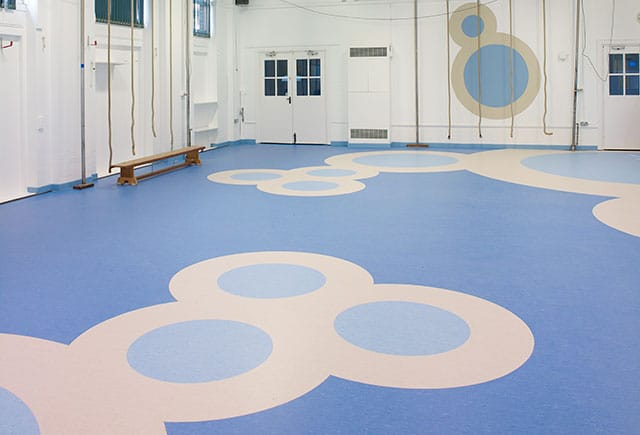 safety flooring in pe hall