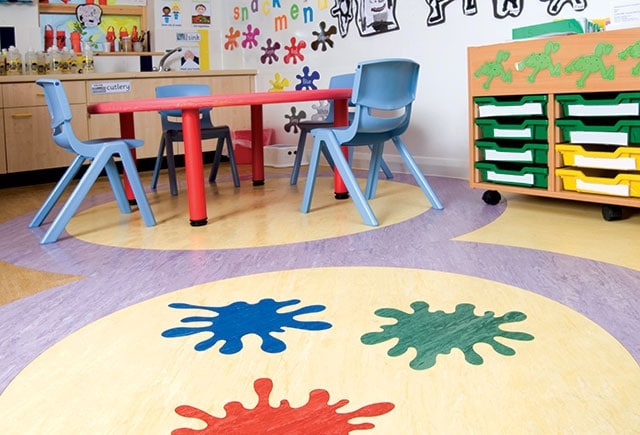 safety flooring in classroom