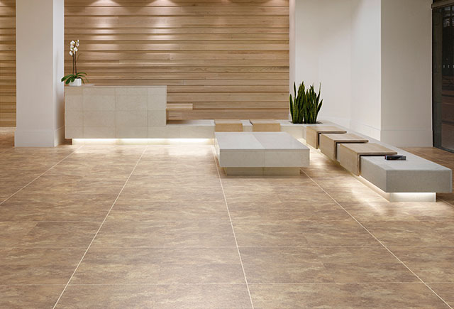 safty flooring in seating area