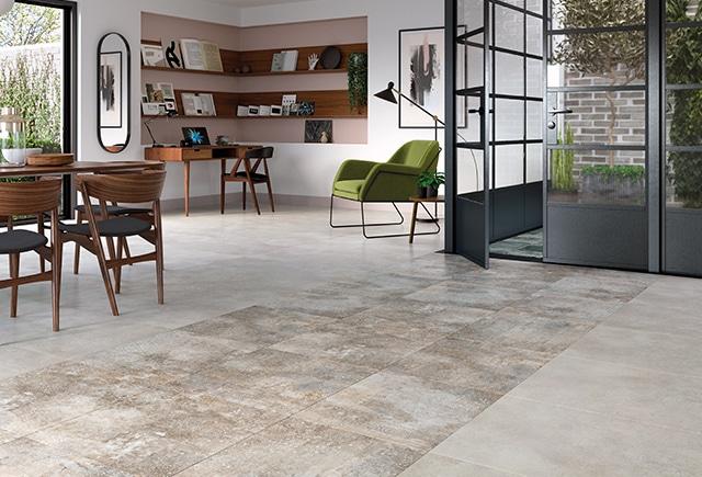 Wet Cement Grey Stencil Concrete Heavy Duty Flooring